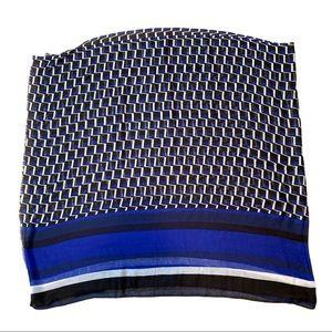 Calvin Klein | Blue, Black & White Scarf / Wrap